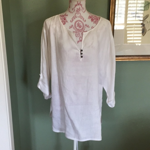 l cut tag out because it was dark in color Tops - Linen shirt